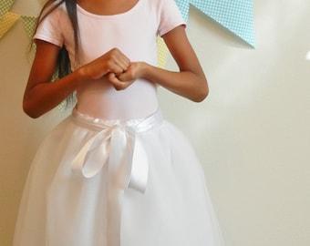 Flower girl EXTRA FULL FLOOR tutu, child tulle skirt, Rustic tutu, Ballerina tulle tutu skirt