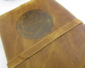 Leather Journal - Leather Sketchbook Cover - Personalize - Monogram - Moon
