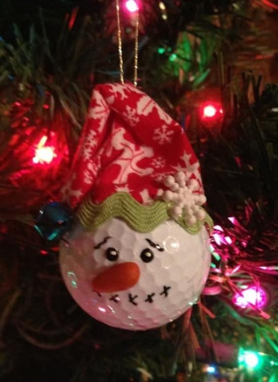 Items similar to Golf Ball Snowman Christmas Ornament on Etsy