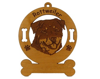 3836 Rottweiler Head Personalized Dog Ornament