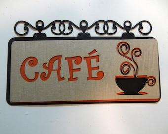 Cafe Die Cut - Scrapbook Embellishments - Cafe