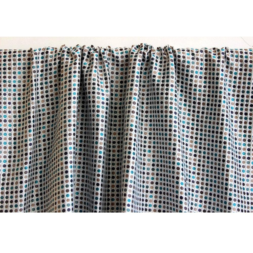 multi colored polka dots curtain 52x84 rod pocket