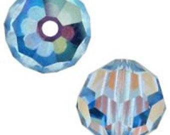 March birthstone 8mm Aquamarine AB Swarovski crystal beads Style 5000 (6)