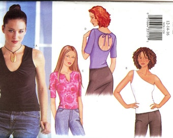 Butterick Fast & Easy Pattern 3028 Misses/Misses Petite Top 12-16 UNCUT