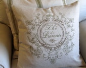 PROVENCE french country pillow cover 22x22 green motif