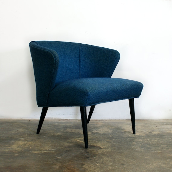 SALE 1950s Mccobb Style Blue Lounge Chair