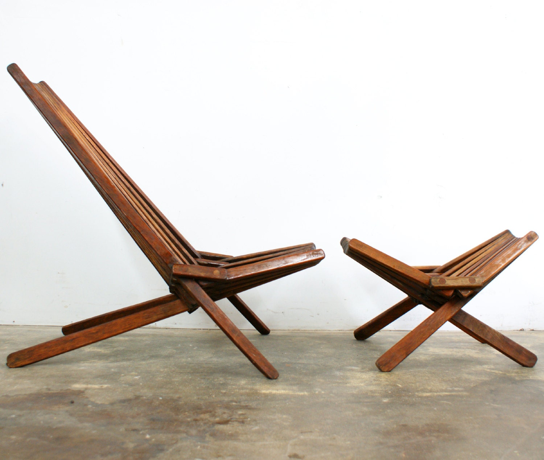 SALE Free Shipping Mid Century Modern Teak Lounge Chair Rare