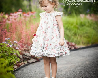 The Handmaiden's Cottage Swing Dress PDF pattern, sizes 6 months through size 8!