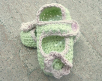 CROCHET PATTERN Baby Booties Simple & Sweet Mary Janes BABY Shoes - Instant Download
