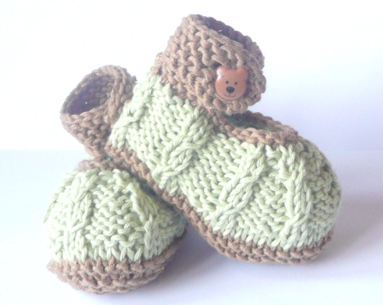 Knitting Baby Shoes : Knitting pattern baby booties mini minty shoes instant