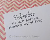 Chandler Handwritten Address Stamp: your choice of self-inking or red rubber