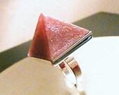 NEW SupHerOrgone Rose Quartz Emanate Love Orgone Pyramid Ring 528 hz