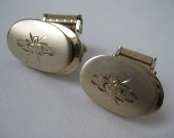 Gold Cuff Links Vintage