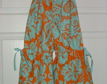 Vintage Style Samurai PANTS - Amy Butler - Belle - Linen Mix - Made in ANY Size - Boutique Mia