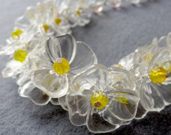 Daisy Chain - NECKLACE - secret garden series with vintage parts