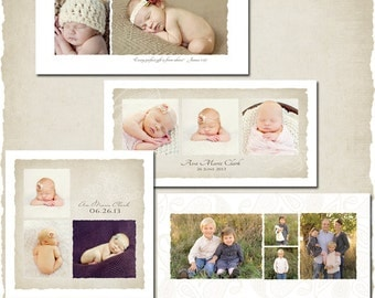 Soft Linen Storyboard Collection - Photoshop Templates for Photographers - 8 Customizable PSD Files - ES0001