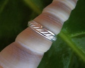 Sterling Silver Band, Silver Ring, Silver Wedding Band, Men's Wedding Band