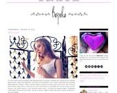Premade Blogger Template - BESPOKE - Mobile Responsive - Custom Pinterest Hover Pin-It Button - Graphic Design - Blog Template