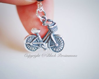 Bicycle Necklace - Solid 925 Sterling Silver Charm - Insurance Included
