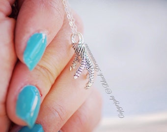 Eagle's Claw Necklace - Sterling Silver 3D Charm - Free Domestic Shipping