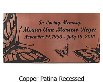 Butterfly Memorial Plaque 16x 8 inches