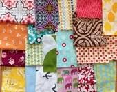 Destash fabric scrap pack - modern designer fabric - scrap bag - almost 2 yards worth