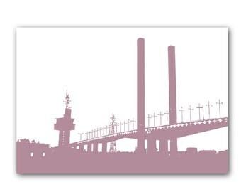 Bolte bridge art - Fine art print, purple, silhouette, bridge, Bolte Bridge in Melbourne, Australia, Mothers Day