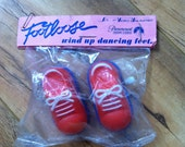 SALE Vintage Wind-Up Footloose Dancing Feet New in Package