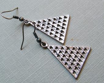 Triangle Dangling Earrings