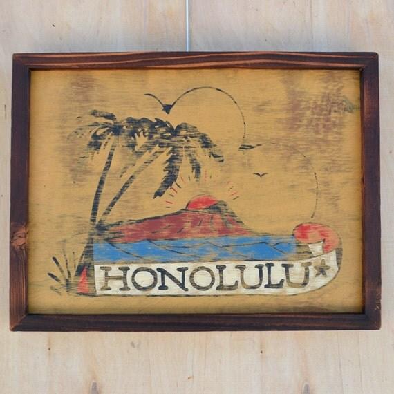 items similar to honolulu sailor jerry tattoo art painting