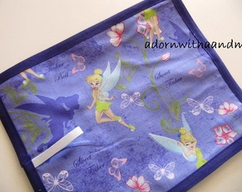 Travel chalkboard mat made with Disney's Tinkerbell fabric