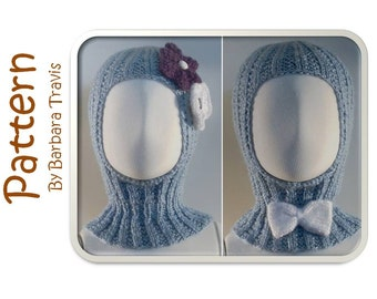Knitting Pattern Toddler and Child Hood With Bow or Flower
