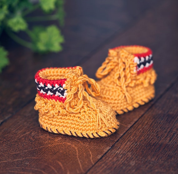 Instant download - Baby Booties Crochet PATTERN (pdf file) - Ethnic Style Baby Boots