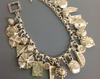 Hill Tribe beads charm bracelet