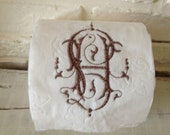Embroidered Toilet Paper - Monogram - Guest Bathroom - Toilet Paper Holder - Decor