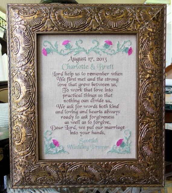 Scottish Wedding Prayer Lord Help Us Remember Gaelic Celtic