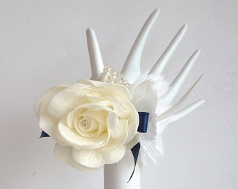 Set of 3 Corsages - Feather and Foam
