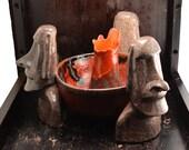 Ocea Otica 3 Moai bowl, one of a kind volcano bowl