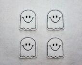 Ghost Halloween Felt Applique - Set of 4