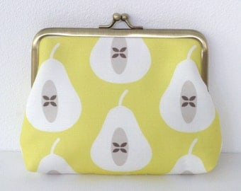 Pear coin purse in Yellow Large SALE