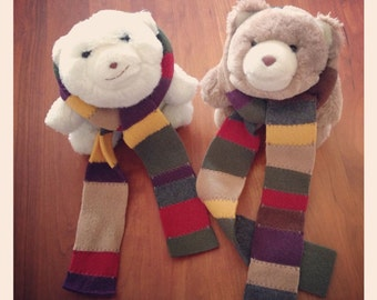 Fleece Doctor Who / Dr. Who Scarf - Teddy Bear Size