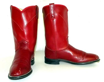 Red Roper style cowboy boots in a womens size 7.5 M - Acme brand