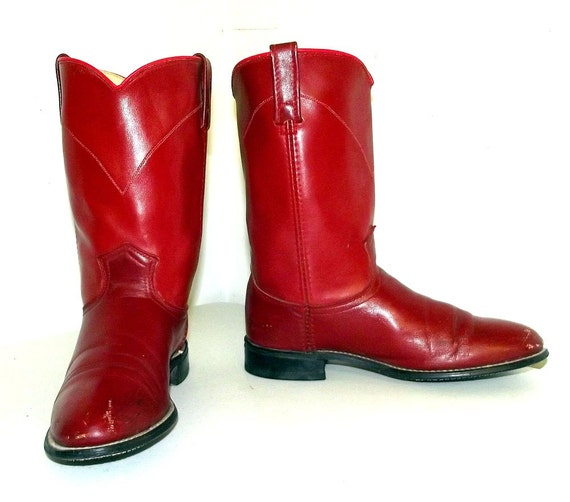 Red Roper Style Cowboy Boots In A Womens Size 7 5 M Acme