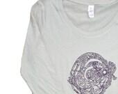 Ladies' Sheer Swirl Girl Long Sleeve Shirt - yoga clothes