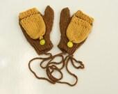 Reserved for Kari - Kids Warm Fingerless Convertible Winter Mittens