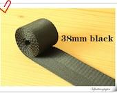 5 yards of 1.5 inch (38mm) Heavy weight Nylon webbing Black ZD45