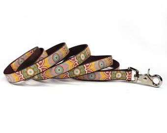 suzani tapestry leash (3/4 inch)