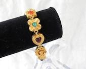 Vintage Victorian Revival Charm Link Bracelet
