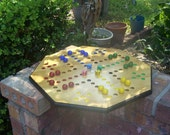 Aggravation game w large marbles and dice