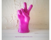 Sign Language Statue - Any 1 Letter or Sign - American Sign Language Hands - Peace Sign - Hang Ten - College Fraternity - Thumb's Up